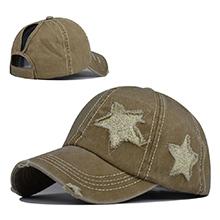 khaki star hat