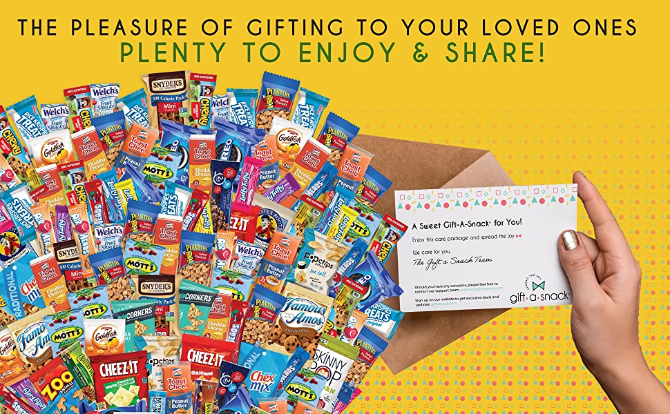 gift a snack care package with gift note