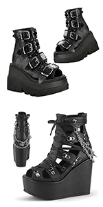 platform wedge boots ankle boots for women