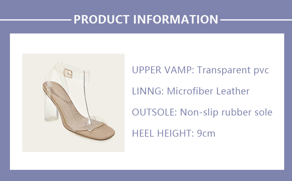 women clear high heeled sandals