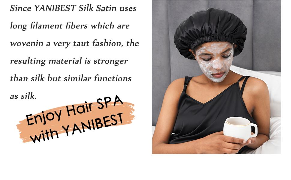 silk satin bonnet