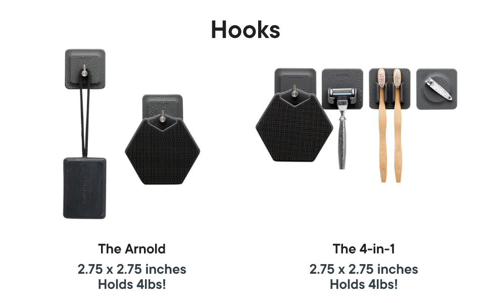 TOOLETRIES Hooks Silicone storage for an organized life