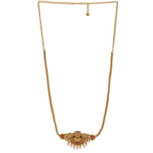 Gold plated Ruby Artificial Stone Studded Matte Sustainable Kamarbandh for Women & Girls