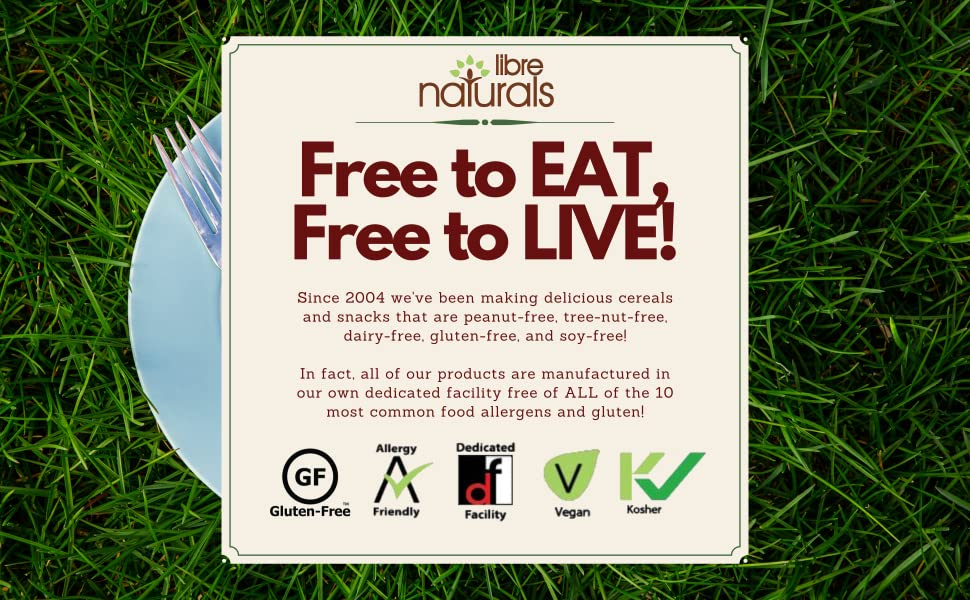 Free to Eat, Free to LIVE, Libre Naturals, Gluten-free, organic, natural