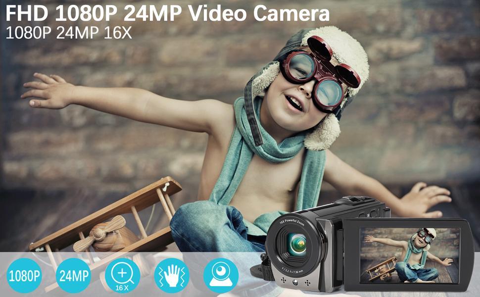 FHD 1080P 24MP Video Camera