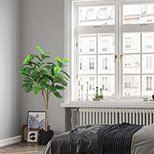 artificial fiddle leaf fig tree for living room fake tree indoor artificial tree for home office