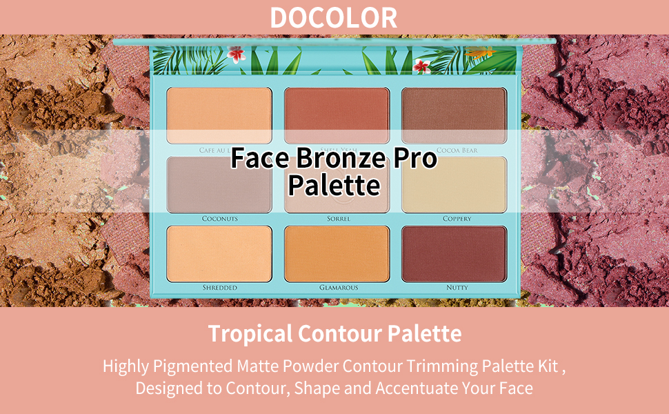 Docolor Face Bronze Pro Palette for All Skin Tones Creating a Flawless Look