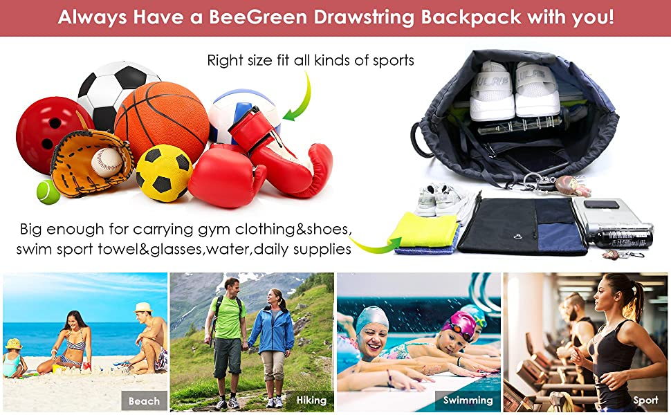 large size drawstring backpack outdoor