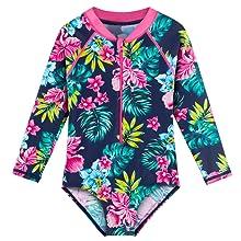Girl's Long Sleeve Swimsuits