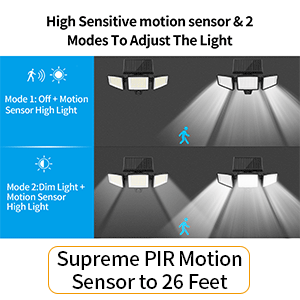 motion sensor solar lights