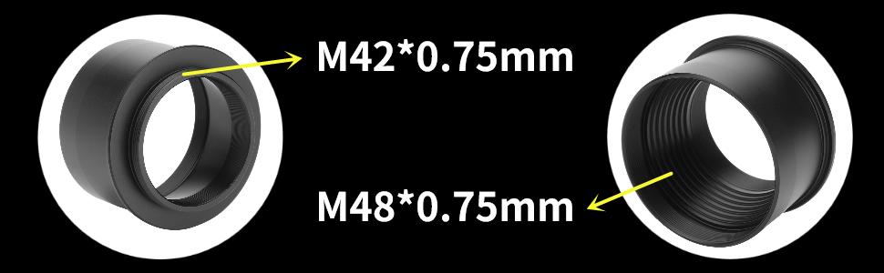 M42*0.75mm M48*0.75mm