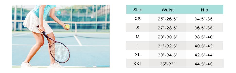 skorts size chart