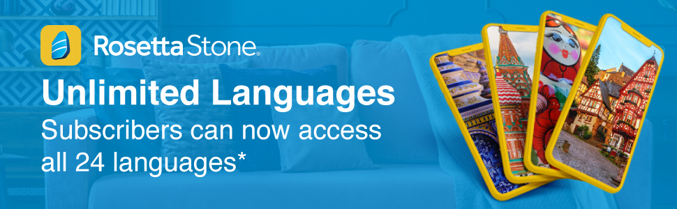 Rosetta Stone subscribers can now access unlimited langauges