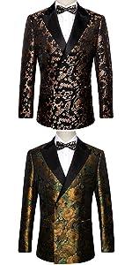 luxury fashion mens blazer jacket wedding business floral suits