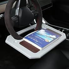 car steering wheel laptop desk