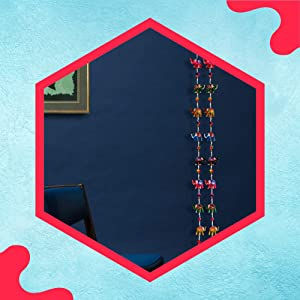 DreamKraft Paper Mache Elephant Full Door Hangings(1.6 M, 20 Elephant) - Set of 2 SPN-FOR1