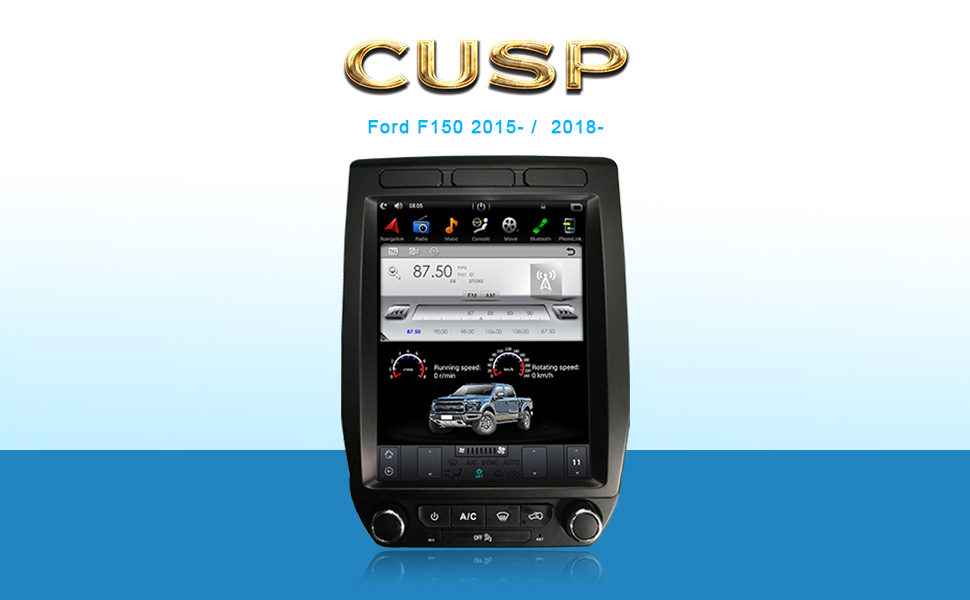 CUSP 12.1 Inch Car Stereo Radio GPS Navigation for Ford F150 Raptor 2015-2021 F250 F350 F450 2017-