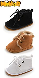 infant baby boy girl winter keep warm fleece booties baby first walking shoes 0-3 months baby shoes