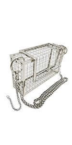 Silver Metal Cage Purse