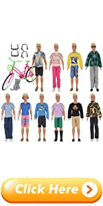 EuTengHao 26Pcs Doll Clothes and Accessories for 12 Inch Boy Dolls