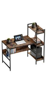 desk with storage home office study desk work table 47 inch