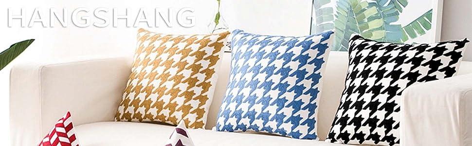 2 -Linen Throw Pillow Decorative Cushion Covers Tassels Design