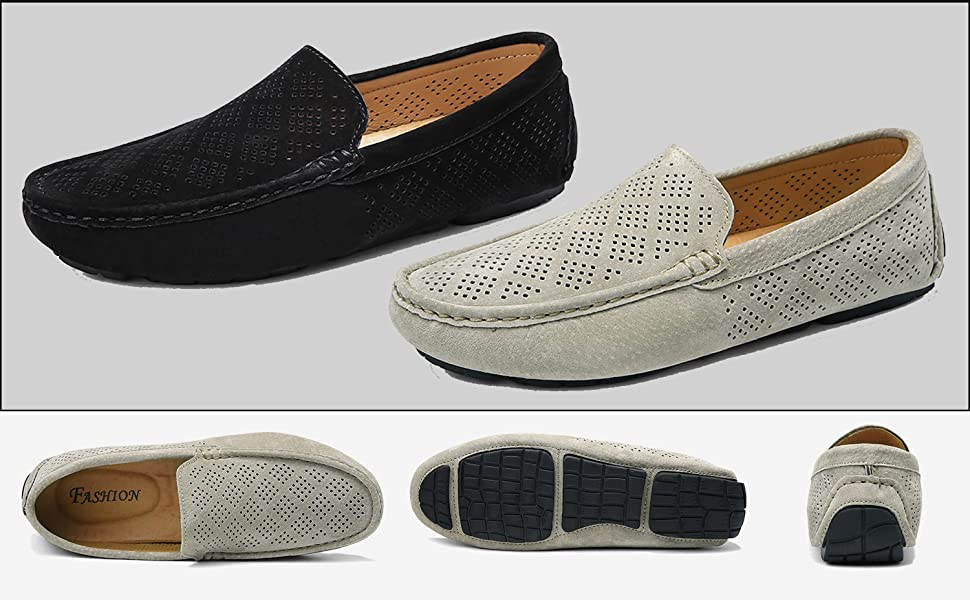 Breathable slip-on loafers