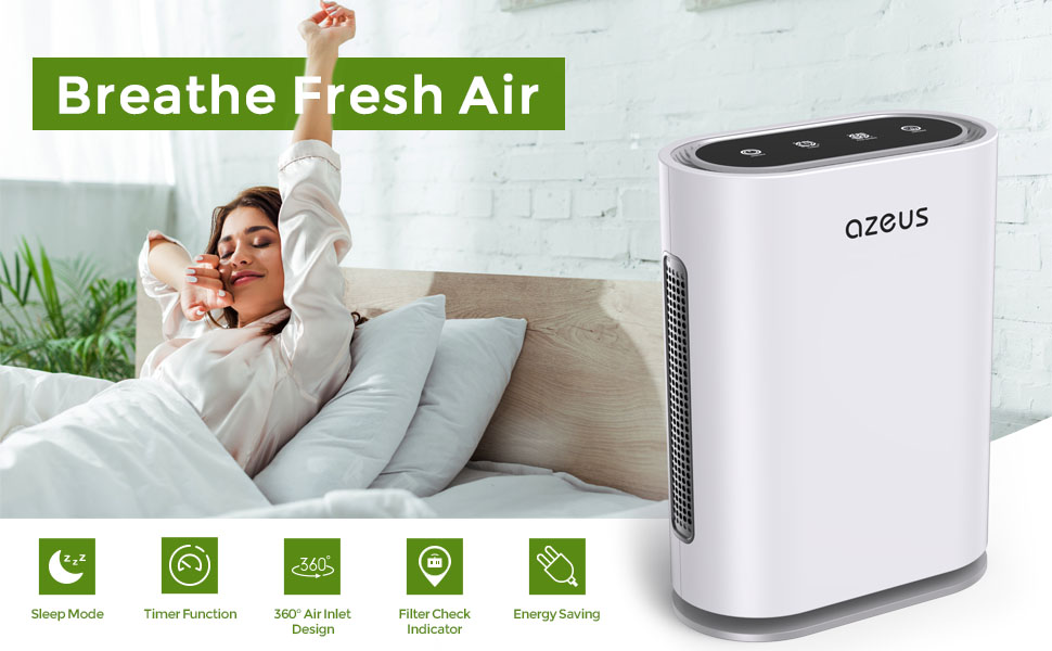 Smart True HEPA Air Purifier For Extra Large Room to 1080 sq. ft