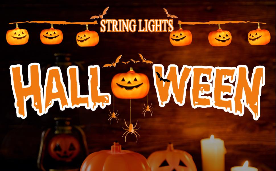 Halloween Theme Decor - Orange Halloween  Pumpkin String Lights Are Perfect Choice!