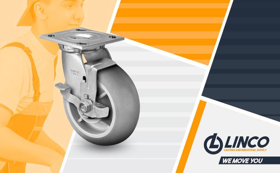 6 inch Heavy Duty Locking Caster Wheels