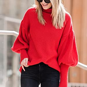 casual solid color sweater for women  vintage sweater warm winter clothes