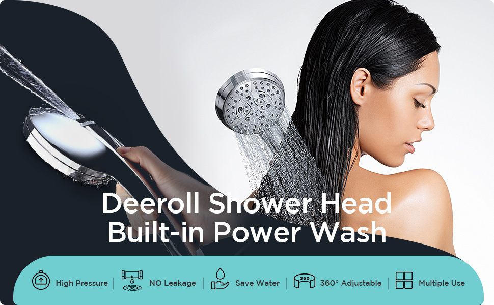 Shower Head with Power Wash