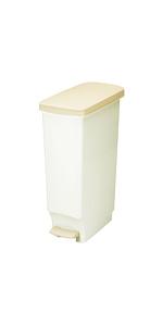 トンボ ゴミ箱 35L 日本製 フタ付き ペダル式 超スリム ホワイト セパ 新輝合成