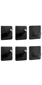6 Pack Adhesive Hooks Heavy Duty Utility Hooks Sticky Wall Hanger 304 Stainless Steel Hook Holder