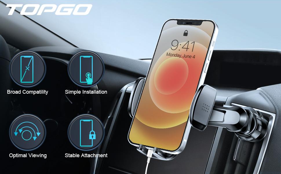 Car Phone Mount Air Vent Cell Phone Holder