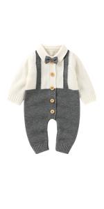 Baby Girl Boy Sweater Romper