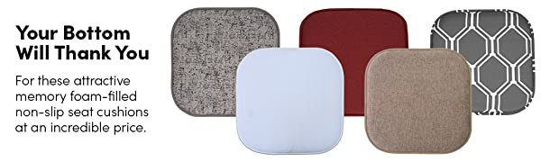 Your Bottom will thank you. Attractive memory foam non slip chair pads