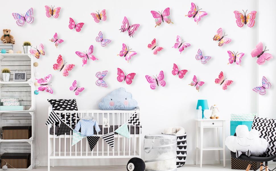 24pcs buttefly wall decals