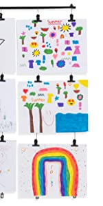 wire for hanging curtains kids artwork display hanging art cable display for kids