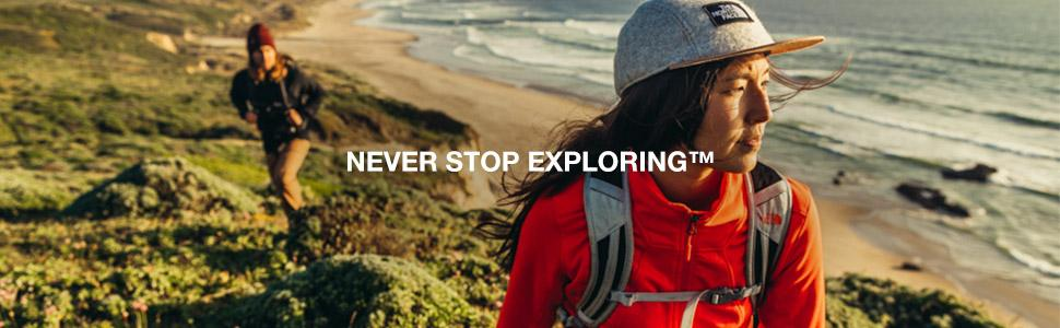the north face never stop exploring