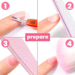 prepare nails