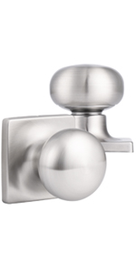 Brushed Nickel Door Knobs with Square Rosette