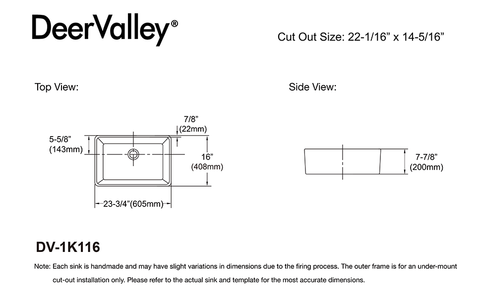 Template to make precise cuts For Small Farmhouse Sink