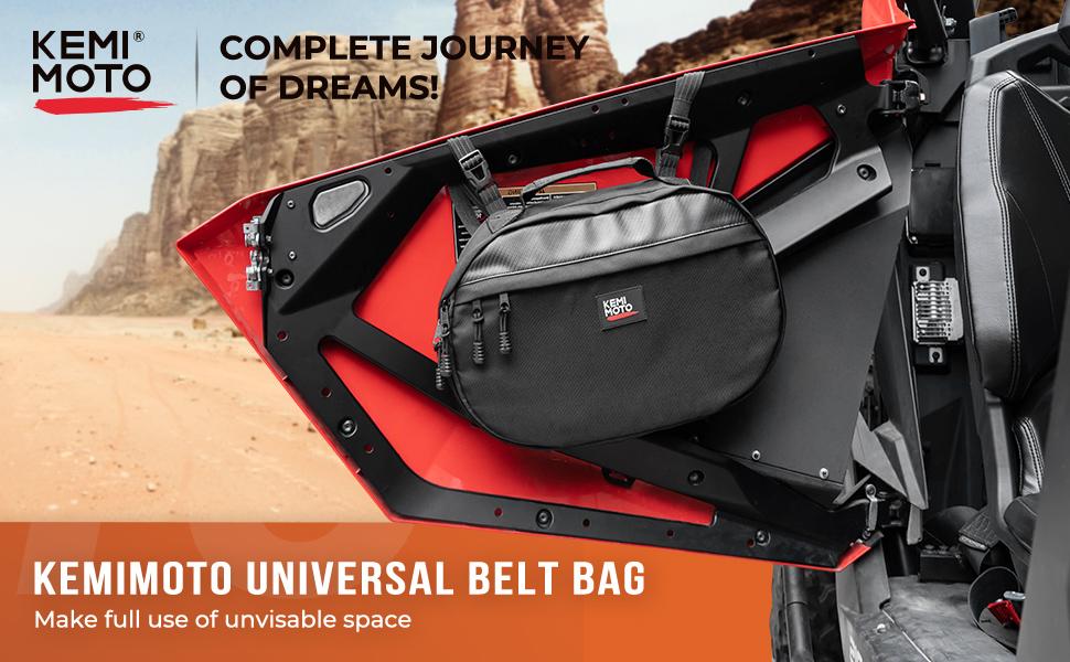 UTV belt storage bag