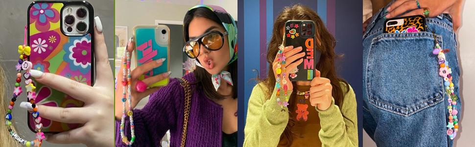 Bohemian Colorful Bead Phone Charm