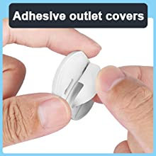 Adhesive outlet covers