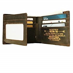 Personalized Engraved Wallets for men