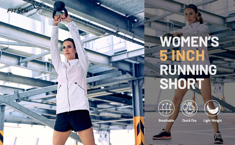 5 inch women running shortsa