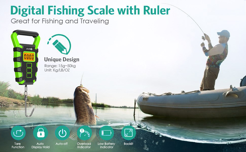 Digital Fishing Scale with Ruler