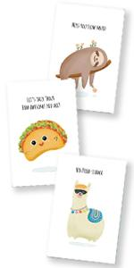 Funny notecards Thinking of You Postcard Friends Family Kids Students Teacher Thank You I Miss You